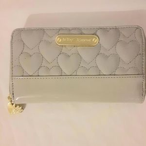 Betsy Johnson Heart Wallet Gray